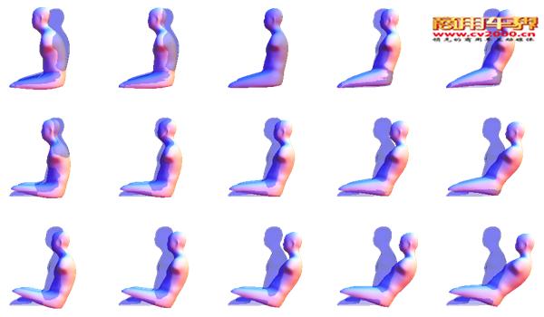 通过人体扫描获得的3D效果图 这个模拟过程是自动的但并不是即时的。如此复杂的模型需要花费几个小时来完成运算反应,而制作能产生这些模型的软件还需要更长的时间,因为需要不断搜集可能出现的新的人体数据,所以胡和他的科研小组还需要在车祸后核对受伤信息。 胡介绍说:我们从医院搜集上百个CT全身扫描件并进行数据分析。然后他和他的科研小组再通过进一步的统计分析来量化胸腔、股骨、骨盆这些部位的变化,并且观察这其中年龄和性别扮演什么样的角色。科研小组还使用3D人体扫描仪对上百个真实人体进行扫描以获得他们的体型尺寸。通过