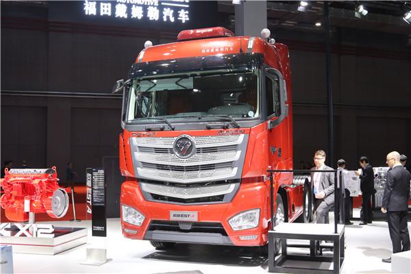 3亮相一线车展的超级卡车落地——福田欧曼EST-A超能版.JPG