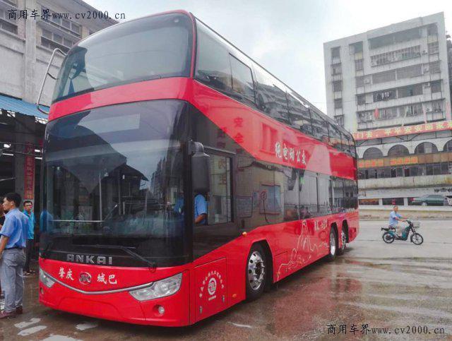 客车|安凯:纯电动双层观光巴士投入运营 将为肇庆市民打造全新的品质旅游